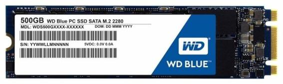 Твердотельный накопитель Western Digital WD BLUE PC SSD 500 GB (WDS500G1B0B)