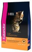 Корм для кошек Eukanuba Top Condition для здоровья кожи и шерсти, с курицей