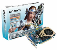 Видеокарта GIGABYTE GeForce 9500 GT 550Mhz PCI-E 2.0 1024Mb 1000Mhz 128 bit DVI HDMI HDCP