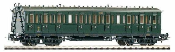 PIKO Пассажирский вагон KSStEB (3 класс), серия Classic-Professional, 53008, H0 (1:87)
