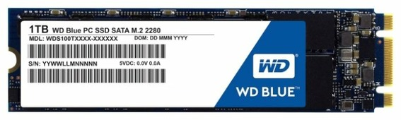 Твердотельный накопитель Western Digital WD BLUE PC SSD 1 TB (WDS100T1B0B)