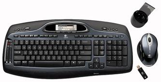 Клавиатура и мышь Logitech MX 5000 Laser Bluetooth Black USB