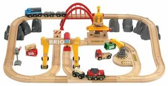 Набор деревянная железная дорога Грузовая люкс BRIO 33097
