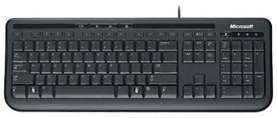 Клавиатура Microsoft Wired Keyboard 600 Black USB