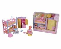 Интерактивные куклы Simba 2 пупсика в спальне 12 см 5036610