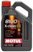 Моторное масло Motul 8100 X-clean FE 5W30 5 л