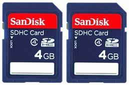 Карта памяти SanDisk SDHC Card Class 4