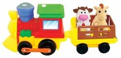 Интерактивная развивающая игрушка Kiddieland Поезд с животными