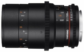 Объектив Samyang 100mm T3.1 VDSLR ED UMC Macro Canon M