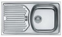"Врезная кухонная мойка FRANKE ETN 614 3.5"" 78х43.5см нержавеющая сталь"