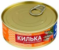 Белый кит Килька балтийская неразделанная обжаренная в томатном соусе, 240 г