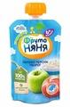 Пюре ФрутоНяня из яблок и персиков с творогом (с 6 месяцев) мягкая упаковка 90 г, 1 шт.