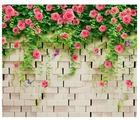 Фотообои Design Studio 3D Кирпичная стена с цветами