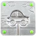 Форма для мармелада Леденцовая фабрика Машинка (0024)