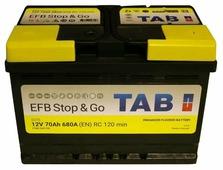Автомобильный аккумулятор TAB EFB Stop & Go SG70 (212070)