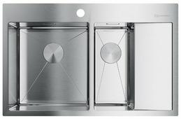 Врезная кухонная мойка OMOIKIRI Akisame 78-2-IN-L 4973062 78х51см нержавеющая сталь