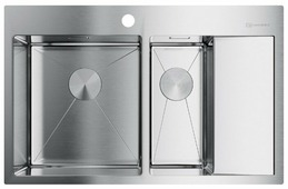 Врезная кухонная мойка OMOIKIRI Akisame 78-2-IN-L 4973062