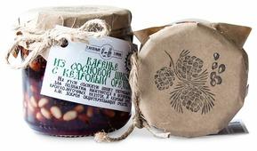 Варенье из сосновых шишек с кедровым орехом Таёжный Тайник, банка 240 г