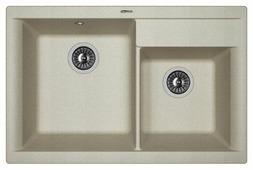 Врезная кухонная мойка FLORENTINA Касси-780 78х51см искусственный гранит