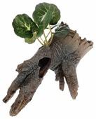 Грот BARBUS Коряга с растением Decor 022 14.5x8.5x12.5 см