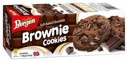 Печенье Bergen Brownie cookies с кусочками шоколада, 126 г