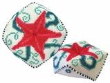 ZENGANA Набор для вышивания бисером и нитками Морская звезда 9.5 х 9.5 см (М-031)