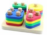 Пирамидка-сортер Мир деревянных игрушек Логический квадрат