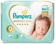 Pampers подгузники Premium Care 0 (1,5-2,5 кг) 30 шт.