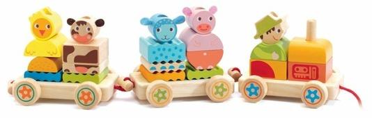 Каталка-игрушка DJECO Паравозик Ферма (06314)