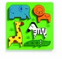 Рамка-вкладыш DJECO Животные сафари (01023), 5 дет.