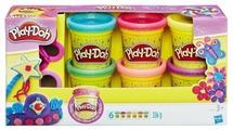 Масса для лепки Play-Doh Набор с блестками 6 банок (A5417)