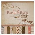 Бумага Белоснежка 30,5x30,5 см, 24 листа, Романтика