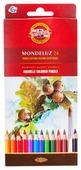 KOH-I-NOOR Карандаши акварельные Mondeluz, 24 цвета (3718024001KS)