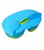 Тарелка BabyOno двухсекционная с крышкой и ложкой (1021)