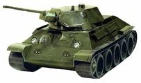 Сборная модель Умная Бумага Танк Т-34 обр. 1941г. (зеленый) (199-02) 1:35