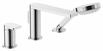Однорычажный смеситель для ванны с душем Jacob Delafon Composed E73078-CP