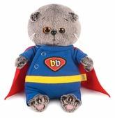 Мягкая игрушка Basik&Co Кот Басик baby в костюме супермена 20 см