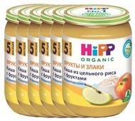 Каша HiPP безмолочная из цельного риса с фруктами (с 5 месяцев) 190 г, 6 шт.