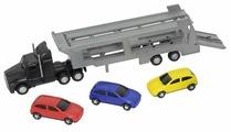 Набор машин Dickie Toys Трейлер + 3 машинки (3746000)