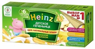 Печенье Heinz с бананом и яблоком в коробке (с 6 месяцев)