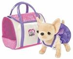 Мягкая игрушка Simba Chi chi love Чихуахуа в фиолетовом платье 20 см