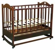 Кроватка Ведрусс Лана 2 (колесо/качалка, ящик, сердечко)