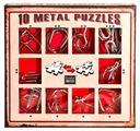 Набор головоломок Eureka 3D Puzzle 10 Metal Puzzles red set (473358) 10 шт.