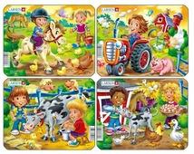 Рамка-вкладыш Larsen Дети на ферме в ассортименте (Z11), 9 дет.