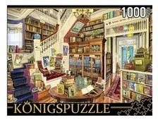 Пазл Рыжий кот Konigspuzzle Большая библиотека (МГК1000-8258), 1000 дет.