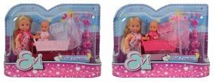 Набор кукол Simba Еви и малыш в колыбельке, 12 см, 5736242