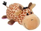 Мягкая игрушка 1 TOY Вывернушка Жираф-Бегемот 20 см