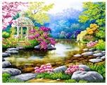 Цветной Набор алмазной вышивки Очарование природы (LG003) 40х50 см