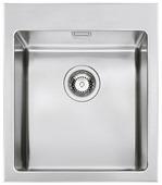 Врезная кухонная мойка smeg VQR40RS 40.7х50см нержавеющая сталь