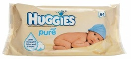 Влажные салфетки Huggies Pure